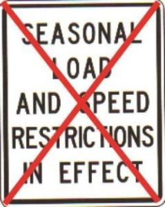 Weight Restrictions